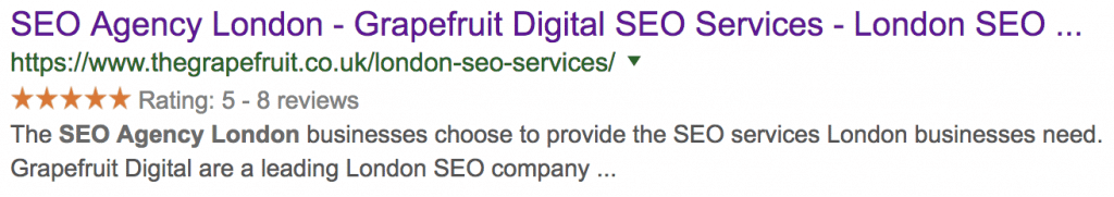 Grapefruit Digital Schema SERPs